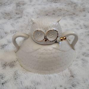 Anthropologie Owl Sugar Bowl